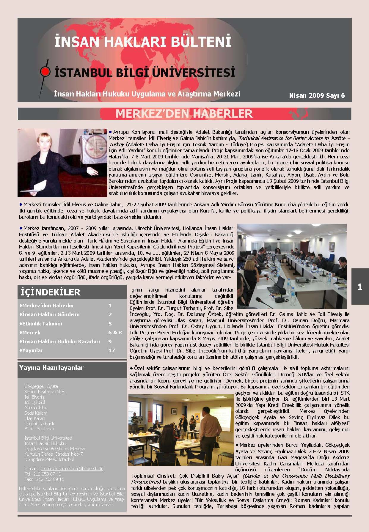 Human Rights Bulletin, April 2009, Issue 6