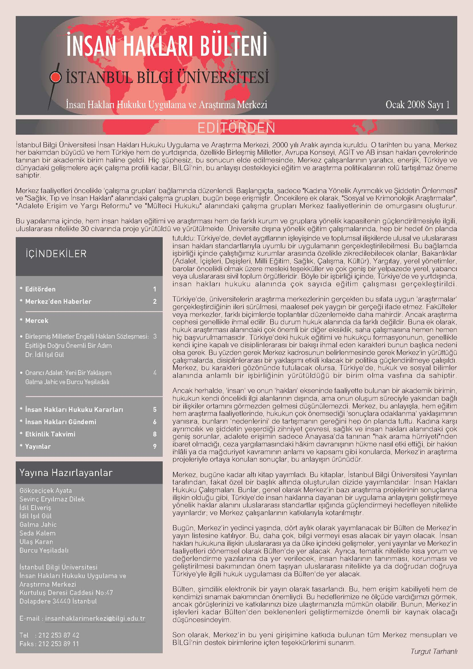 Human Rights Bulletin, January 2008, Issue 1