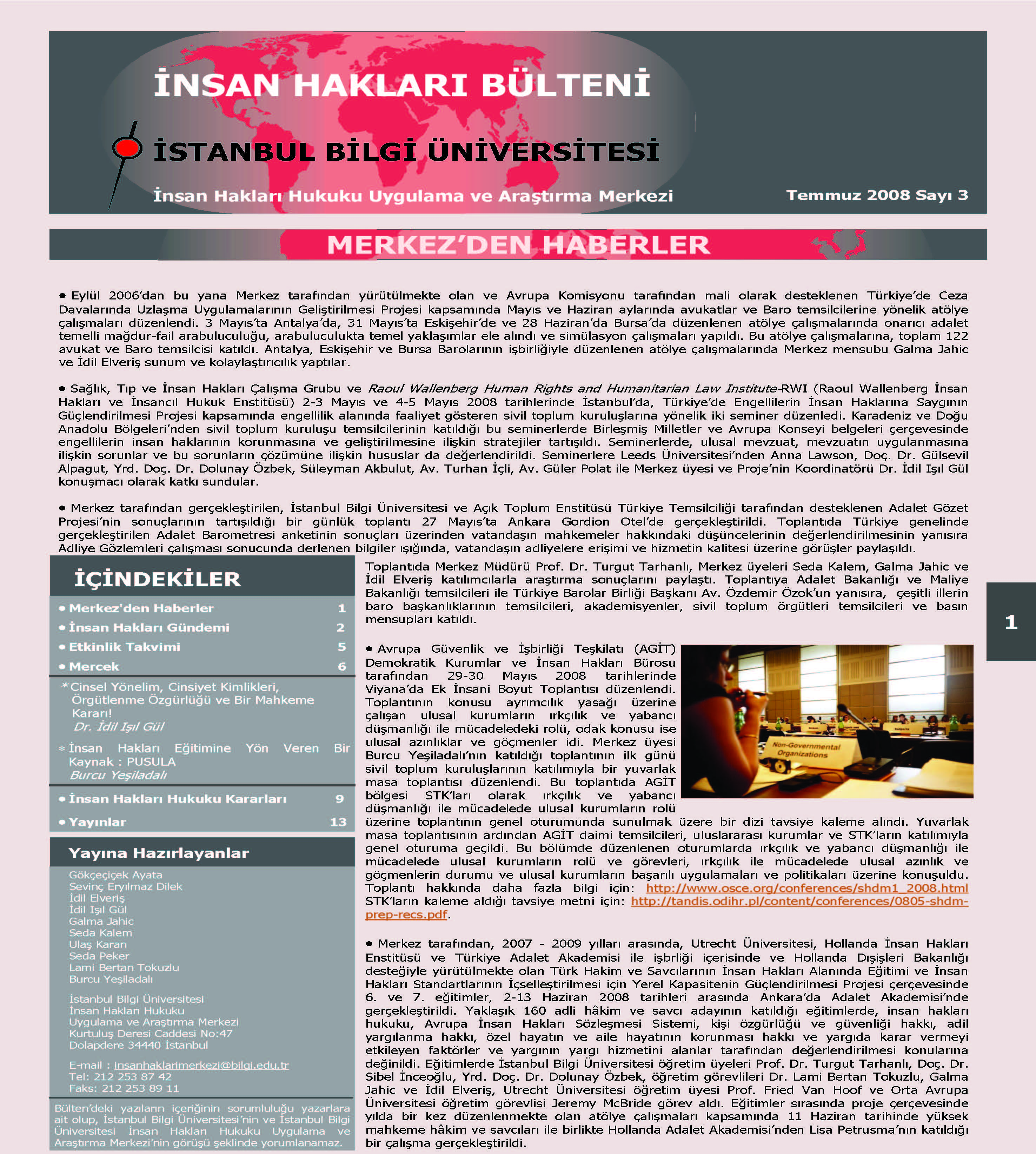 Human Rights Bulletin, July 2008, Issue 3